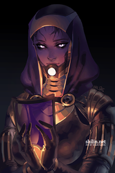 Tali'zorah vas Normandy - rough piece for Patreon by shilin