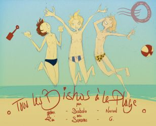 All the bishos at beach by sagix