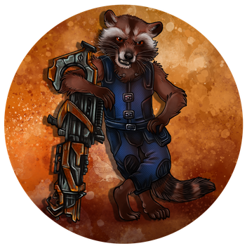 Rocket Raccoon by Skidar