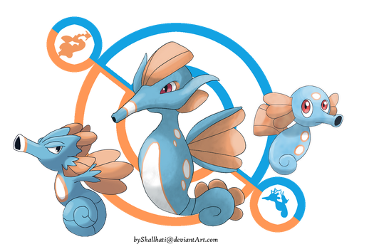 Crossbreed-Kingdra: Abyssopelagial by Skallhati