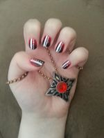 Blood Stained Fangs Nails by icerose05