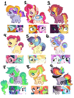 Big Mess of Adopts | CLOSED by Pawscratch