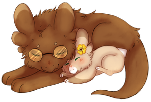 The Lion Sleeps -  Gift! by The-Angry-Ant