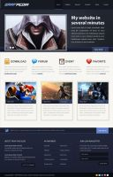 Video game web layout by Grafpedia