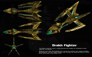 Drakh Fighter ortho by unusualsuspex