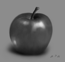 Apple in grayscale by jayanam