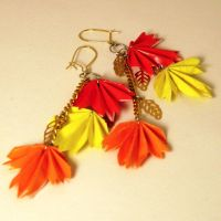 Cascading Autumn Earrings by pandacub143