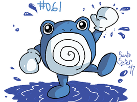 #061 Poliwhirl by SaintsSister47
