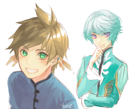 Sorey and Mikleo~ by Yamicchi