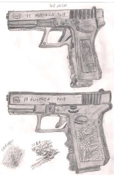 The Glock 17 and 19 by Thecommander236