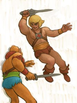 He Man and Beastman by atomicman