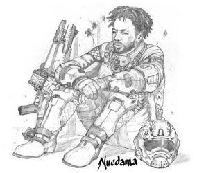 Jerry deep in thought pencils by Nuedama