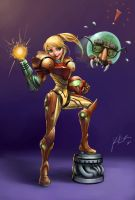 Metroid - Samus Aran Cartoon by KimiSz