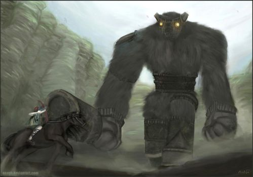 Shadow of the Colossus: Battle by Amaipetisu