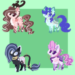 [Open] Pony Adoptables! by 0Flare0