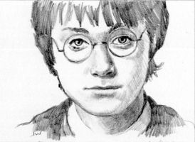 Harry Potter Sketch Card by Stungeon