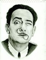 Salvador Dali by KulaginaNe