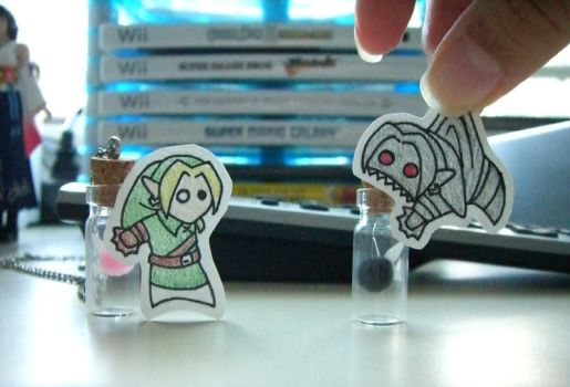 + Paper Link and Dark Link + by hiyoko-chan