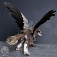 OOAK Bristle Tail Gryphon Sculpture Art Doll by M-J-Albert
