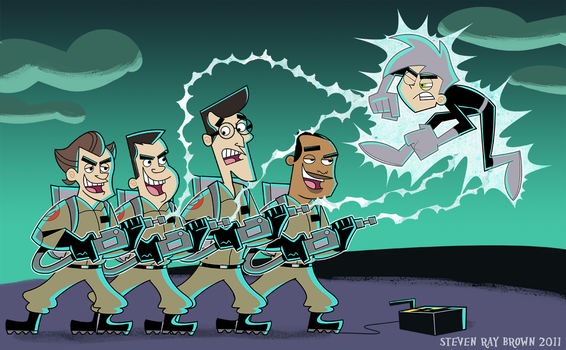 Ghostbusters vs Danny Phantom by StevenRayBrown