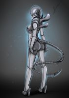 Female xenomorph by BecSantus