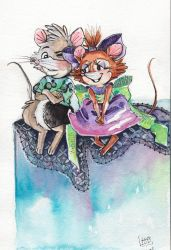 Young Jonathan and Brisby by Zeline-Jaydee