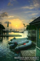 Marigot Bay Sunset by Grishend