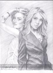 Mary Kate and Ashley by DarkGirlDrawings
