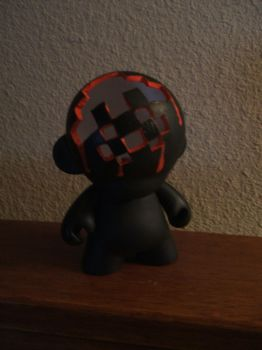 Space Invaded Mini Munny by Digital-Ricebox