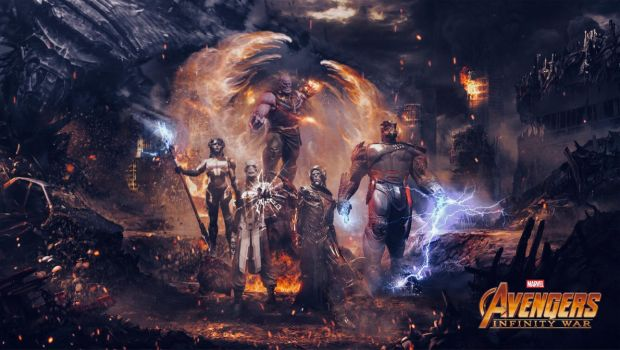 Infinity War : Thanos And The Black Order by tomzj1