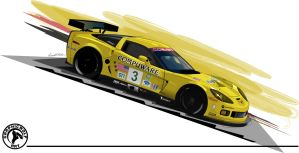 ALMS Corvette by graphicwolf