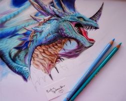 Azure Drake drawing in progress by BarbieSpitzmuller