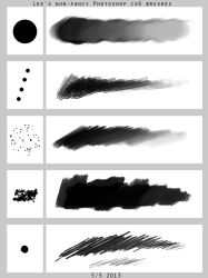 Lee's Non-fancy PS brush set by SpoonfishLee