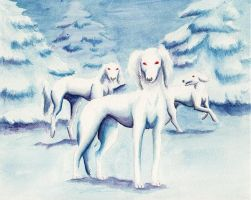 Hounds of Annwn - Cwn Annwn by arikla