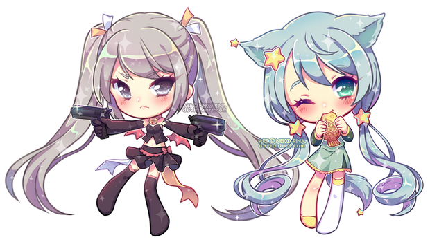 Glossy Chibis For Airyuzu by Neko-Rina
