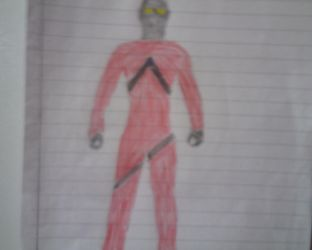 Ultraman Axel Red Mode (Rough Draft) by redgriffin22