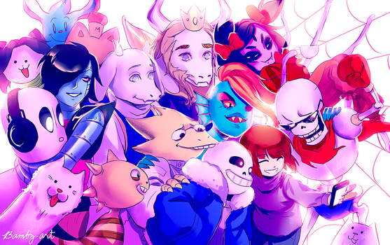 Undertale - Group Pic! by Bambz-Art