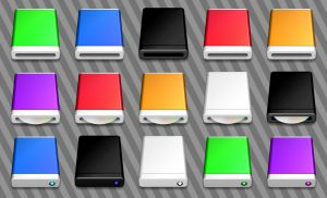 Mac Style Disc Drive Icons by CitizenJustin