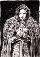Kit Harington as Jon Snow by emalterre