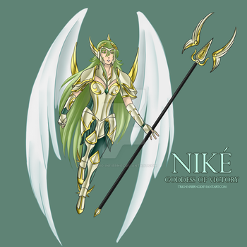 Nike goddess of victory by Trio-Infierno