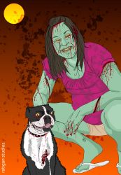 zombie wife and dog by Joseph-Ratigan