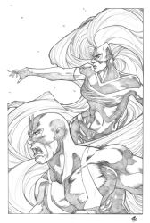 Inhumans Royal couple by ThomasBlakeArtist