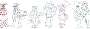 Lady anthro pokemon designs