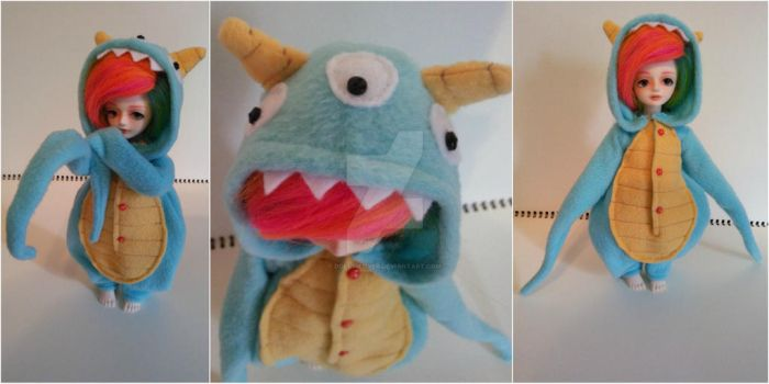 Jeffrey the Monster YoSD Kigurumi by Dolly-Lover