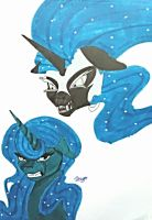 mlp luna and nightmare moon by moondaneka