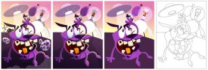 Courage, The Cowardly Dog (process) by placitte2012