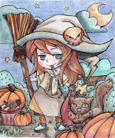 Little Witch / Entry for Coloring Contest by Moondancer3