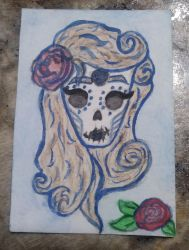 Day of the dead Sugar candy skull by Disneyamoo
