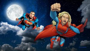 Supergirl Wallpaper - Superman at Night 1 by Curtdawg53