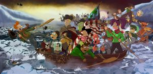 Brannigan Crossing the Delaware by Anothen